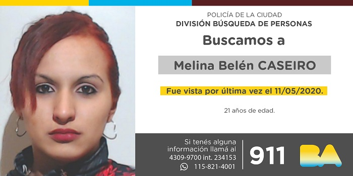 BUSCAN A MELINA